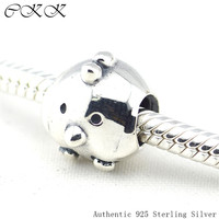Fits Pandora Bracelets Chicken Silver Charm Solid 925 Sterling Silver Beads For Jewelry Making Free Shipping