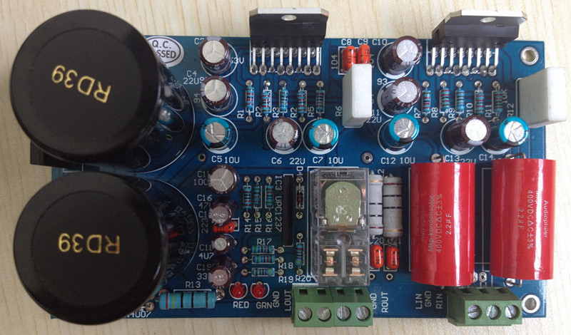 Free Ship TDA7294 Dual Mono speaker protection acoustic amplifier board (bulk parts need solder by you) HiFi PCBFree Ship TDA7294 Dual Mono speaker protection acoustic amplifier board (bulk parts need solder by you) HiFi PCB