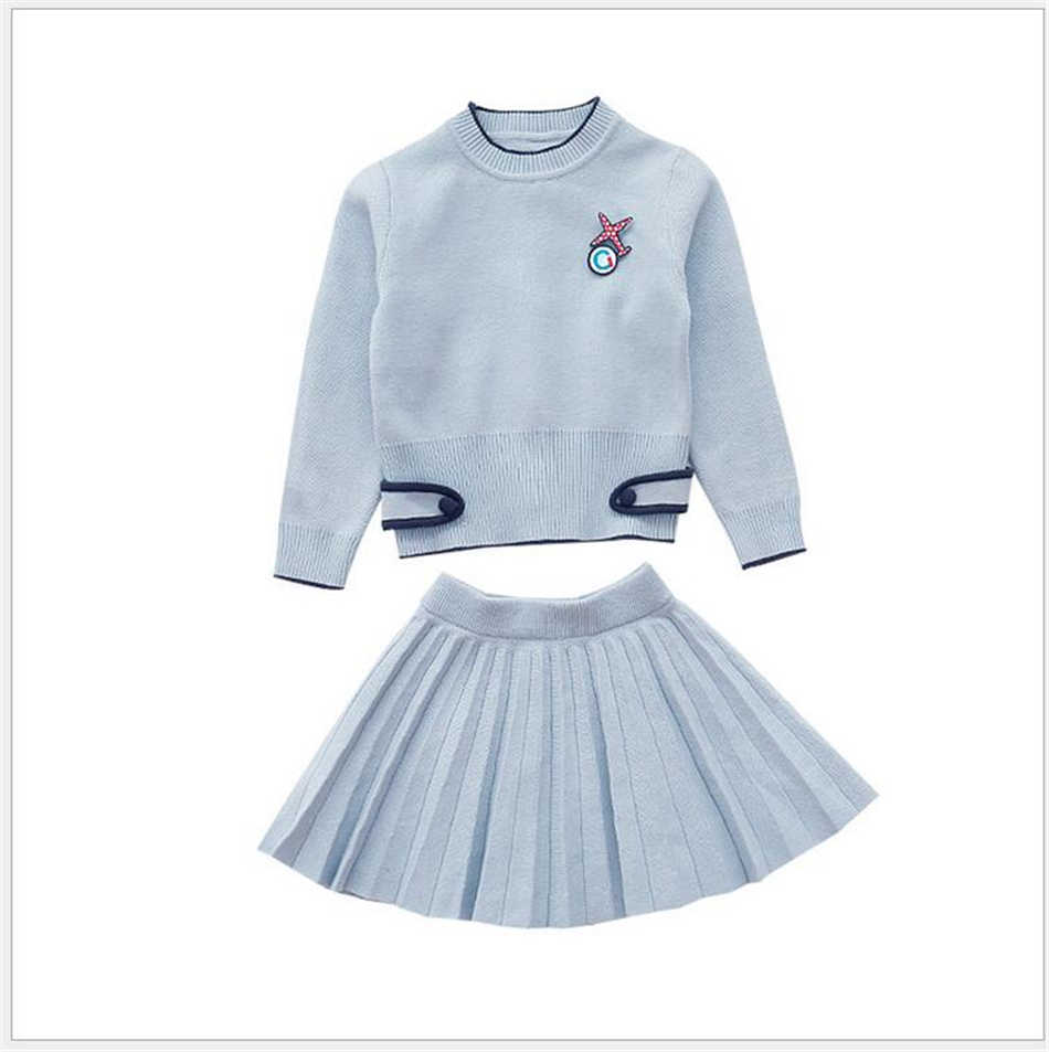 Autumn Girls Sweaters Baby Girls Cute Long Sleeve Sweater +