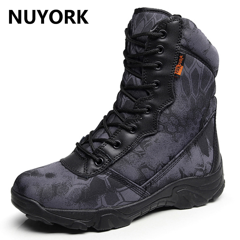 NUYORK Autumn outdoors python-style special forces military Hiking shoes new waterproof tactical men mountaineering desert boots brand fishing waders security staff special forces shoes ski bodyguard women trekking tactical desert climb combat land boots