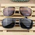 2016 Люксовый Бренд поляризованный Вождения мужская Очки металлический каркас + Смола объектива мужчины солнцезащитные очки Путешествия Eyewears Открытый Óculos