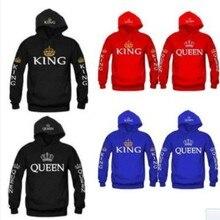 2019 New QUEEN KING Couples Printed Changxiuweiyi oversized hoodie bts sweatshir