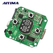 Aiyima 3.7 V-5 V SD/Tf del u-disco WAV MP3 Decodificador Bordo Radio FM 5 W Amplificador de Auriculares
