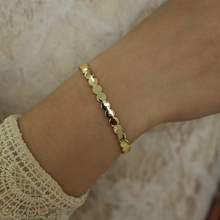 2019top quality gold color plated round coin shape bangle bracelet for women girls engagement wedding beautiful open cuff bangle
