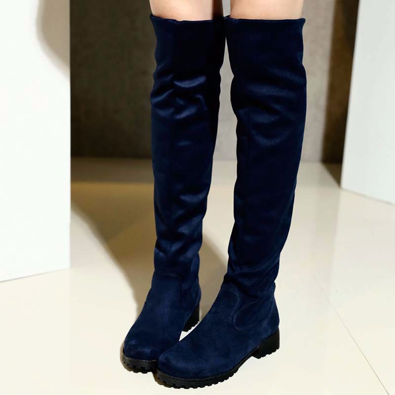 ENMAYER Motorcycle Boots Winter New Over Knee High Sexy Fashion for Women Snow Long Knight Shoes in Over the Knee Boots from Shoes
