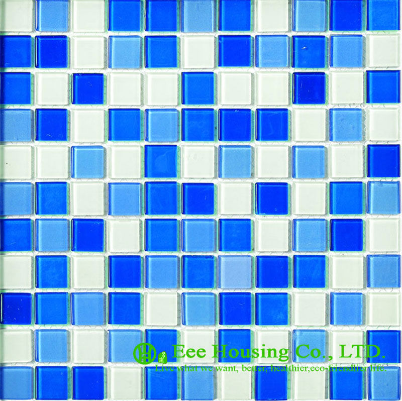 Dust-proof Glass Crystal Mosaic Tile For Bahroom/Kitchen, China Glass Mosaic Tiles Factory