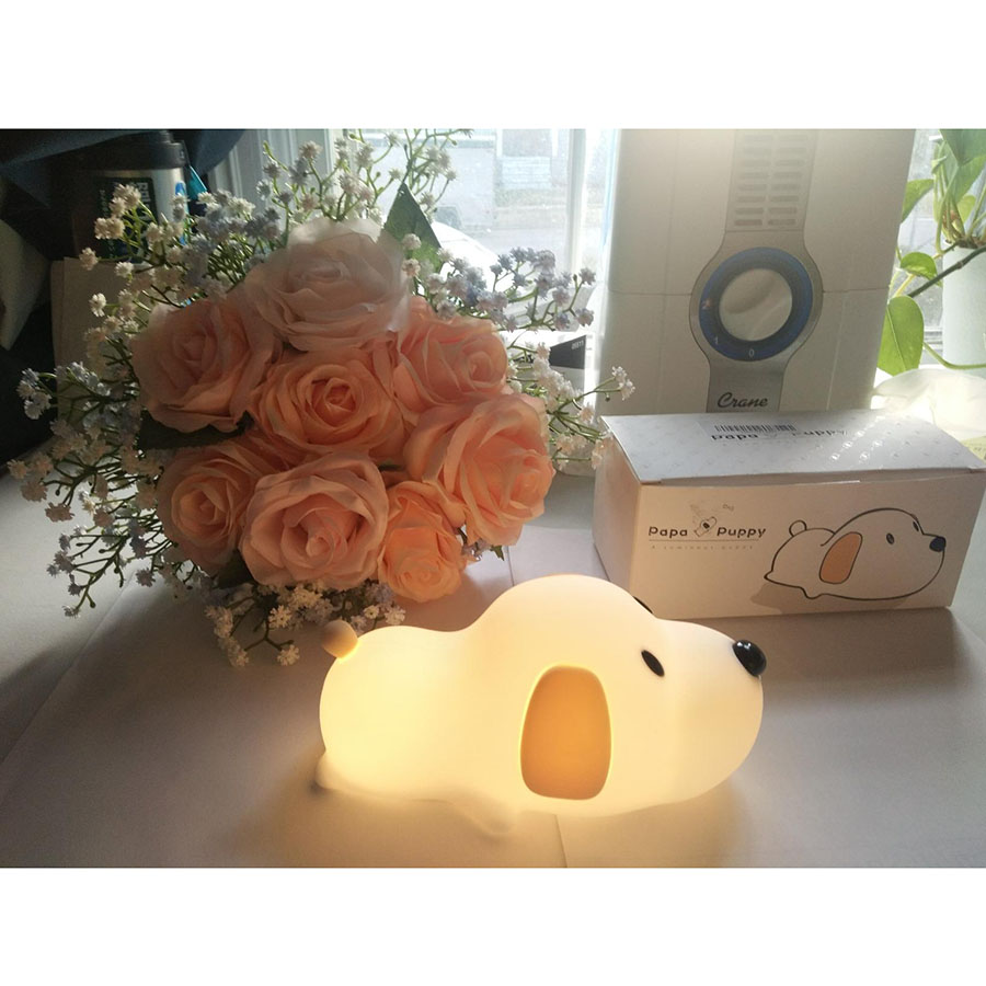 Image 5 - Silicone Cartoon Puppy Dog Touch Sensor LED Night Light Baby Children Bedroom LED Night Lamp USB Atmosphere Novelty Light-in LED Night Lights from Lights & Lighting