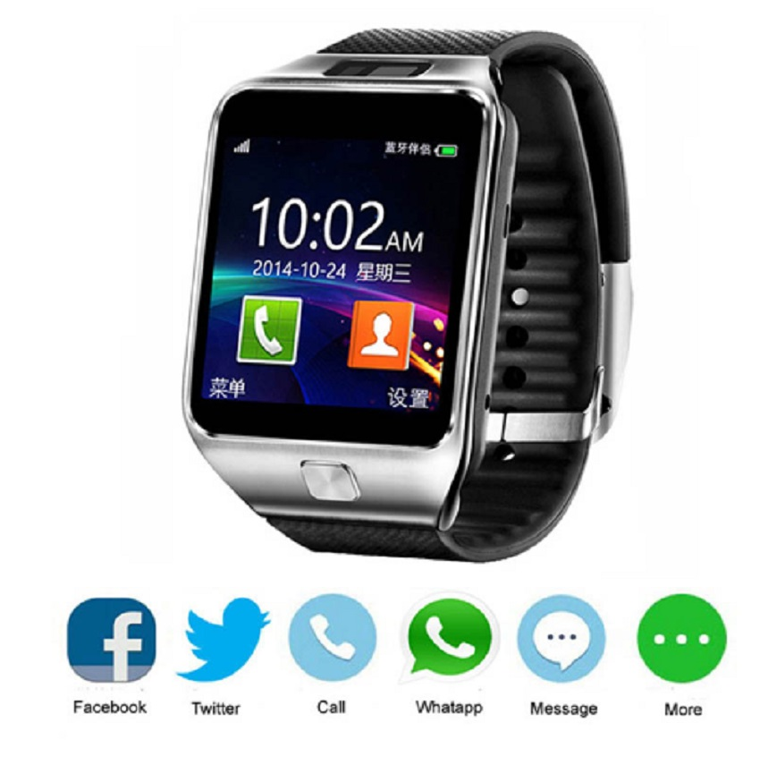 Wearable Devices DZ09 Smart Watch With Camera Bluetooth Connected SIM Card Smartwatch For IOS Android Phone PK gt 08 dz 09 watch