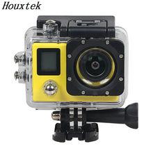 Двойной Дисплей Действий камеры Ultra HD 4 К 2.7 К WiFi 1080 P 60fps спорт Камеры 2.0 LCD 170 D pro спорт водонепроницаемая Камера Действий Cam