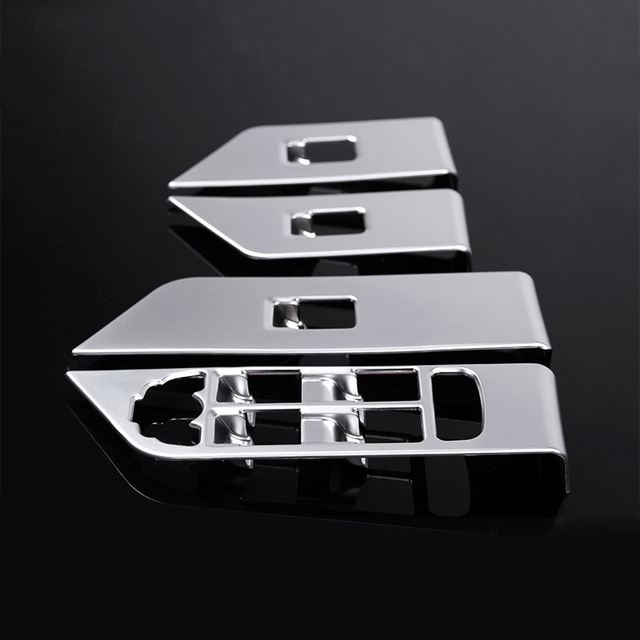 4pcs set chrome interior accessory window button frame cover trim sticker for landrover range rover