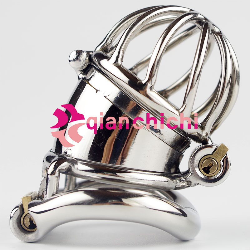Ergonomic Stainless Steel Stealth Lock Male Chastity Device Cock Cage Fetish Penis Lock Cock Ring Chastity Belt gig cock lock stainless steel penis cage penis cock ring sleeve male chastity device cage belt cockring sex toys for men