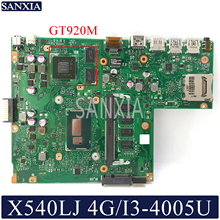 Kefu X540LJ материнская плата для ноутбука ASUS VivoBook X540LJ X540LA F540L A540L Тесты оригинальная материнская плата 4G-RAM I3-4005U GT920M