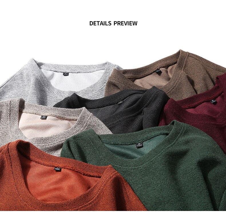 7Colors Autumn Casual Men Sweatshirts Solid Hoody Top Basic O Neck Sport Hoodies Male Spring Crewneck Streetwear Brand Clothing 12