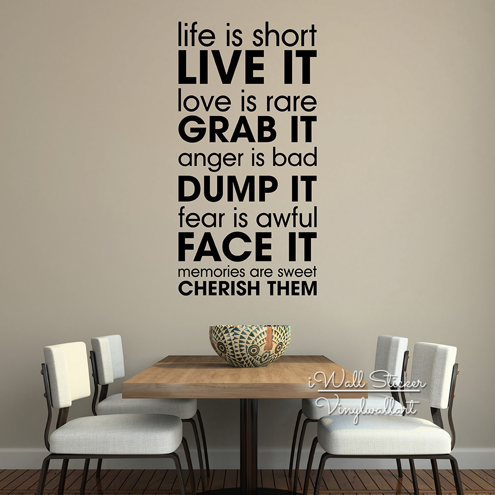 Life is short quotes wall decal motivational quotes wall sticker life is short quotes wall decal motivational quotes wall sticker diy vinyl life wall lettering inspirational cut vinyl q228 in underwear from mother kids amipublicfo Images