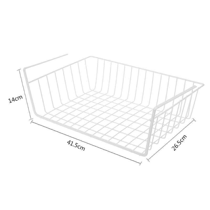 Wiszące pod szafką żelaza półka do przechowywania kosz z siatki półka kuchenna blok do krojenia stojak deska do krojenia uchwyt na ręczniki drzwi do szafki