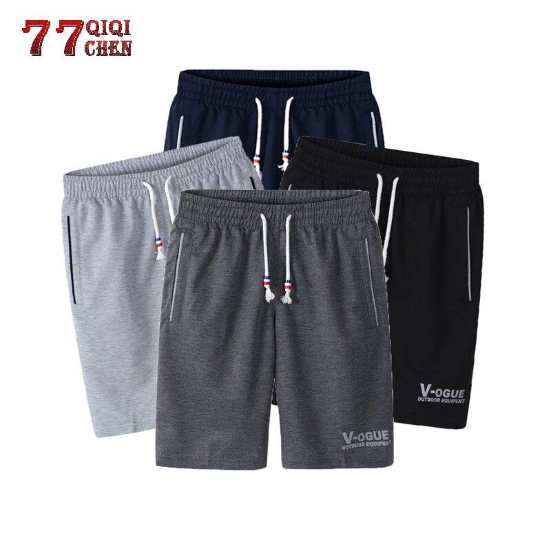 4PC SFitness Bodybuilding Shorts Men's Spring Summer Male Sweat Casual Shorts Pants Workout Man Fashion Cotton Pants Masculino