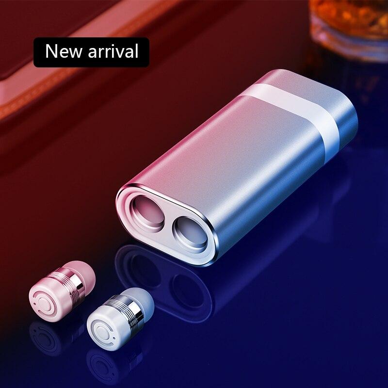 Sans fil TWS Bluetooth Casque Stéréo Mini Bluetooth Écouteur Stéréo Écouteurs Casque Micro Intégré Sans Fil Recharge Écouteurs