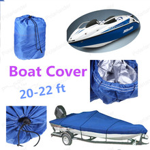 [Sale]Boat Cover 210D Oxford V-Hull Speedboat Cover 20 to22ft Prevent UV Sunproof Waterproof Grey