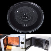 Transparent 27cm Diameter Thermostable Glass Groove Microwave Oven Rotating Plate Rotating Pallet Dish