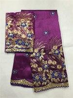 7yds/Лот Оптовая цена африканская Джордж кружевной ткани популярный дизайн Африканский Джордж ткани для нигерийской свадьбы праздничное пла