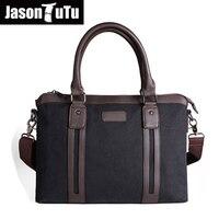 JASON TUTU 2017 Hot men canvas bag messenger bag high quality business man bag briefcase brand design shoulder bags handbag B74