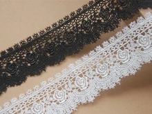 Quality DIY Accessories Japanese style rose Water soluble Silk lace edge Width 4cm