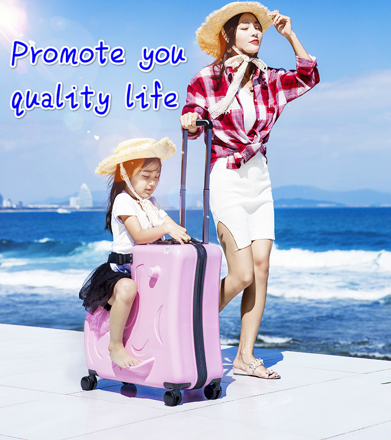 цена на Children riding trolley case hardside luggage.TRAVEL ASSISTANT.baby'gift.kids aluminium boarding bag.child waterproof suitcase-6