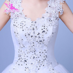 Image 5 - AIJINGYU 2021 gowns new hot selling cheap ball gown lace up back formal bride dresses wedding dress WK659
