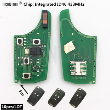 QCONTROL Car Remote Key Electronic Circuit Board for Opel/Vauxhall 433MHz for Astra J Corsa E Insignia Zafira C 2009-2016