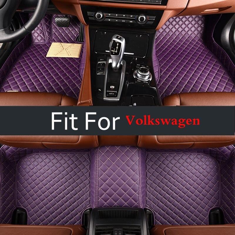 Red Car Floor Mat For Volkswagen All Models Vw Passat B5 6 Polo Golf Tiguan Jetta Touran Touareg Auto Interior Decoration Carpet gel180 silicone car key case for volkswagen polo passat tiguan touareg touran golf 6 eos