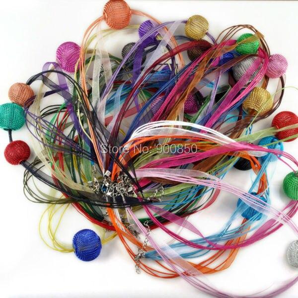 8dac99e36bae € 1.99 7% de DESCUENTO 20 unids/lote al por mayor cinta de Organza collar  materiales para hacer collares accesorios de la joyería de bricolaje ...