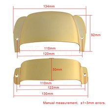 Yibuy 13.5x9x2.7cm Zinc Alloy Gold Plated PB Bass Electric Guitar Bridge Cover with Pickup Cover 120mm Hole Distance