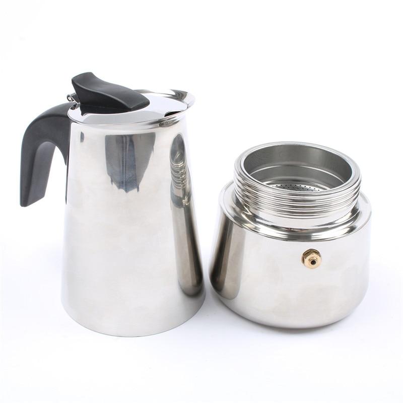 DMWD Лидер продаж 2/4/6/9 чашек Нержавеющаясталь Мока эспрессо латте Percolator Плита Топ Кофе горшок кофеварка кофейник