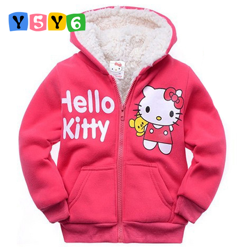 2018 Retail Baby Girls Cartoon  Winter Fur Coat,children Outerwear,girls Cotton Thick Warm Hoodies Jacket Kids Clothes