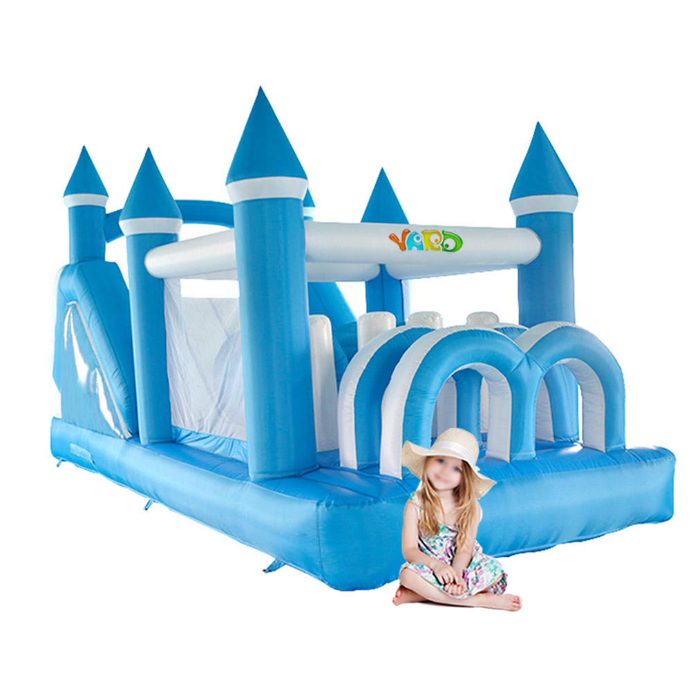 Blue New Home Used Inflatable Jumping Bouncy Castle For Kids Giant Inflatable Bouncer with Slide Amusement Park стоимость