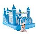 Yard azul nuevo castillo inflable inflable para los niños parque de atracciones tobogán inflable gigante