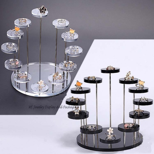 Completely new New Arrival 7 Layer Round Jewelry Display Desktop Earring Holder  JM82