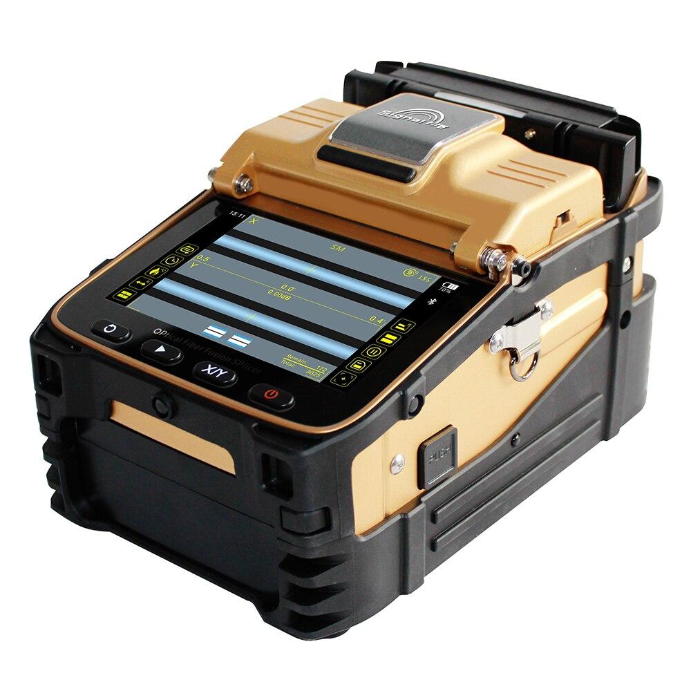 Signalfire AI-8C FTTH fibra óptica Splicer Da Fusão de fibra óptica máquina de emenda da soldadura AI-8 versão de atualização
