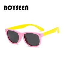 BOYSEEN2018 marca uñas de Software de seguridad polarizado de ojo de gato  de los niños gafas de sol hombres y bebé gafas de moda. 3195532dde