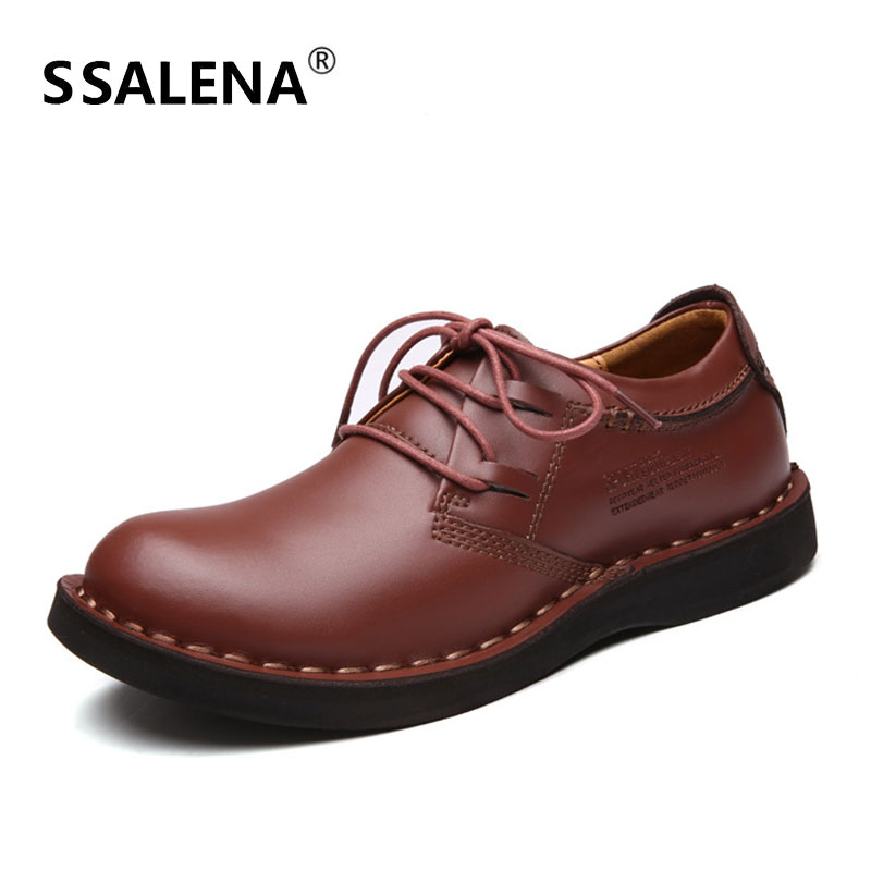 Male British Style Casual Shoes Male Leather Walking Breathable Oxfords Footwear Men Comfortable Soft Sole Shoes AA52106-in Oxfords from Shoes    1