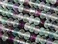 Frete Grátis Naturais 4*6mm Azul Fluorita Rondelle Espaçador Facetado Contas de Cristal Europeus