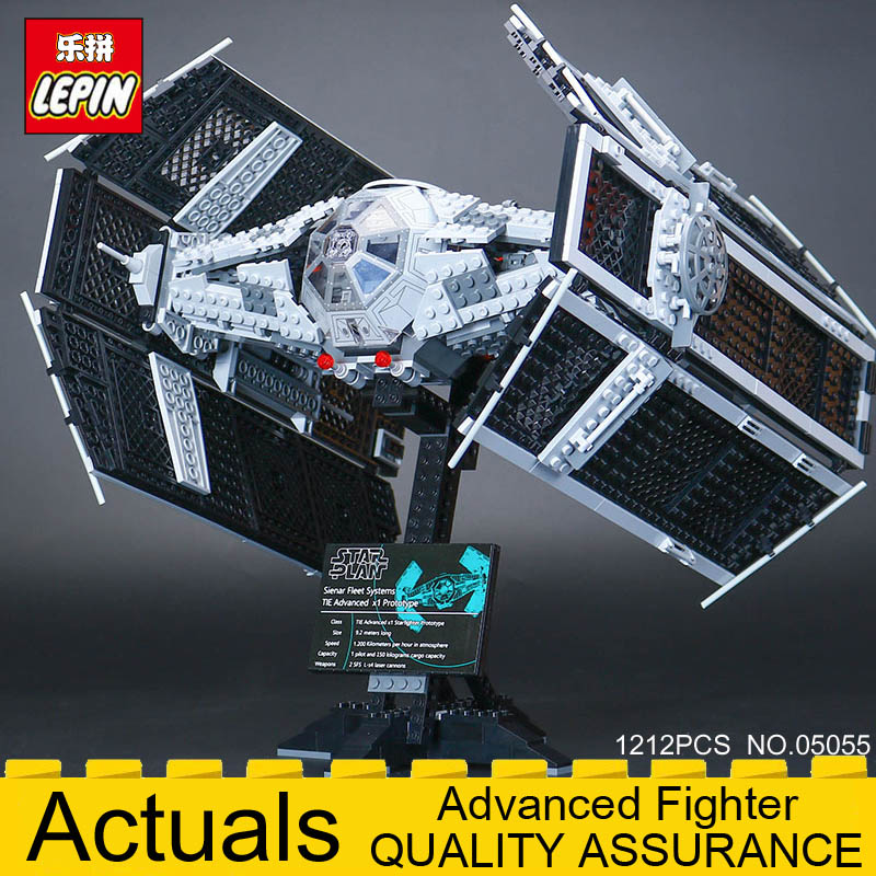Lepin 05055 Star Series Wars The Rogue One USC Vader TIE Advanced Fighter Set 10175 Building Blocks Bricks Educational DIY Toys lepin 05055 star 1212pcs the rogue one usc vader tie advanced fighter set 10175 building blocks bricks educational war for kids