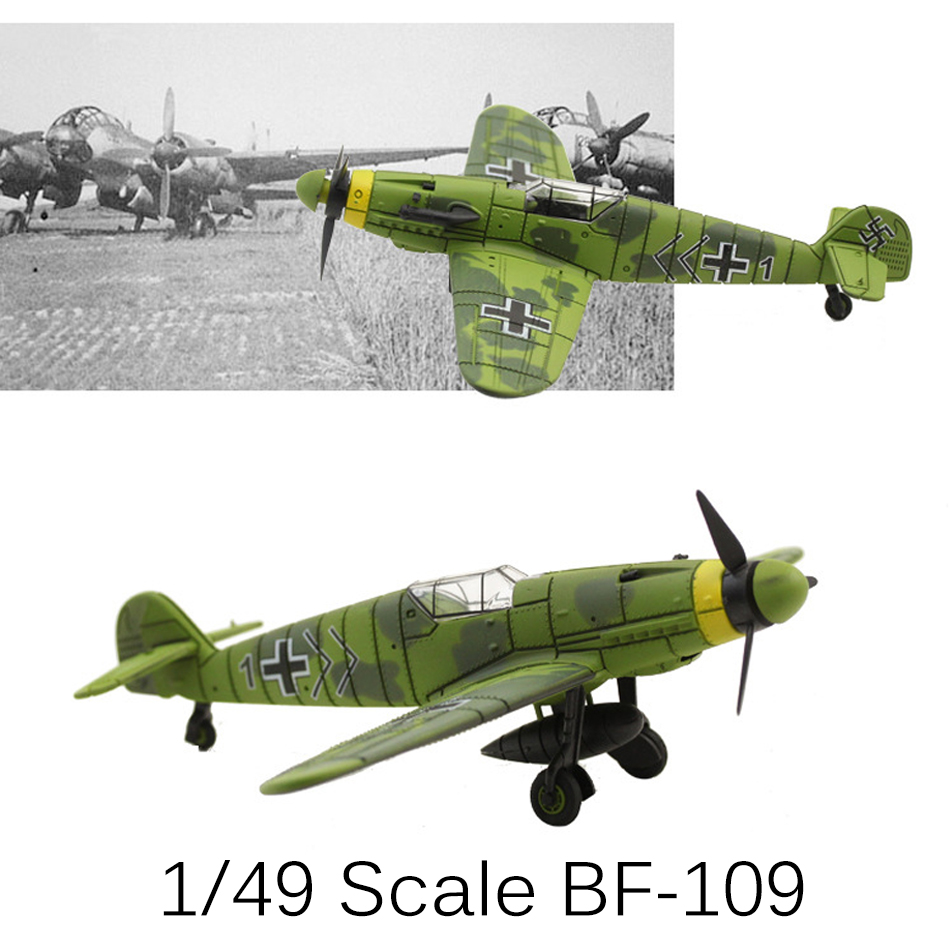 2017 New 4D Model Plastic Aircraft Model 1/49 Messerschmitt BF109 Fighter playmobile brinquedos toys for children boys gift