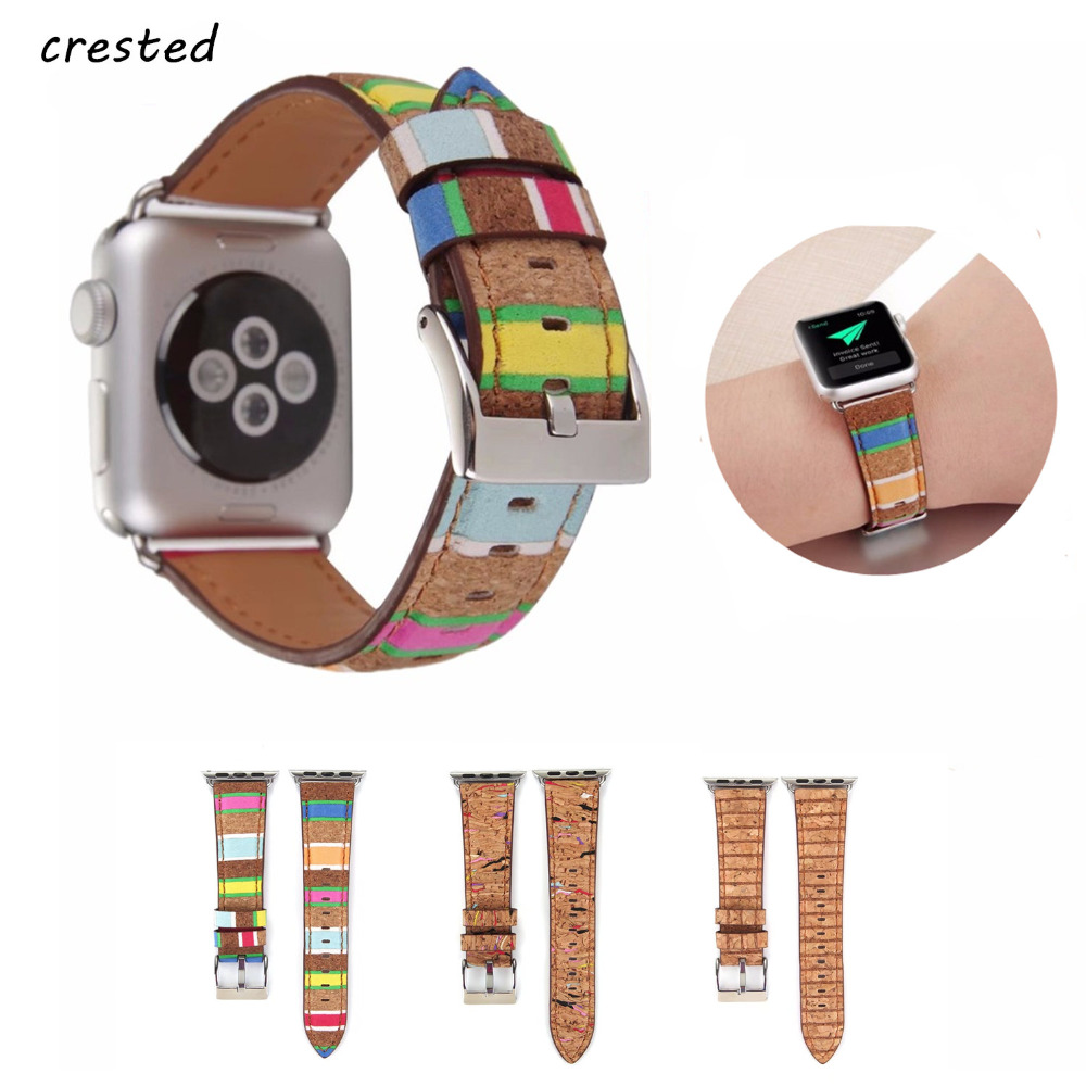 Genuine leather watchband strap for apple watch band 42mm 38mm iwatch 3/2/1 bracelet wrist band watch belt Vintage Folk Style