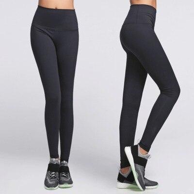 Eshtanga leggings de tiro alto de Yoga de alta calidad de alta cintura elástica sólida de 4 vías Stretch Skinny Pantalones talla XXS-XL