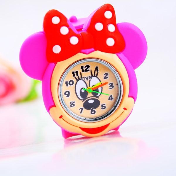 Hot Sale Minnie Cartoon Girl Gift Watches Multicolour High Quality Silica Gel Quartz Watch Child Children Student