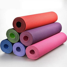 183*61cm*8mm TPE Yoga Mats for women fitness and body building