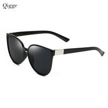 Qigge New Oversized Espelho Olho de Gato Mulheres Óculos De Sol Moda  Feminina Óculos de Sol Do Vintage Mulheres óculos de Sol Es.. 13fcd9f1ad