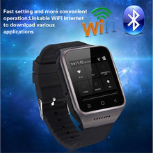 Android 4.4 Dual Core Relógio Inteligente ZGPAX S8 relógio de Pulso Smartwatch Suporta GSM 3G WCDMA Telefones celulares Bluetooth 4.0 Wi-fi câmera