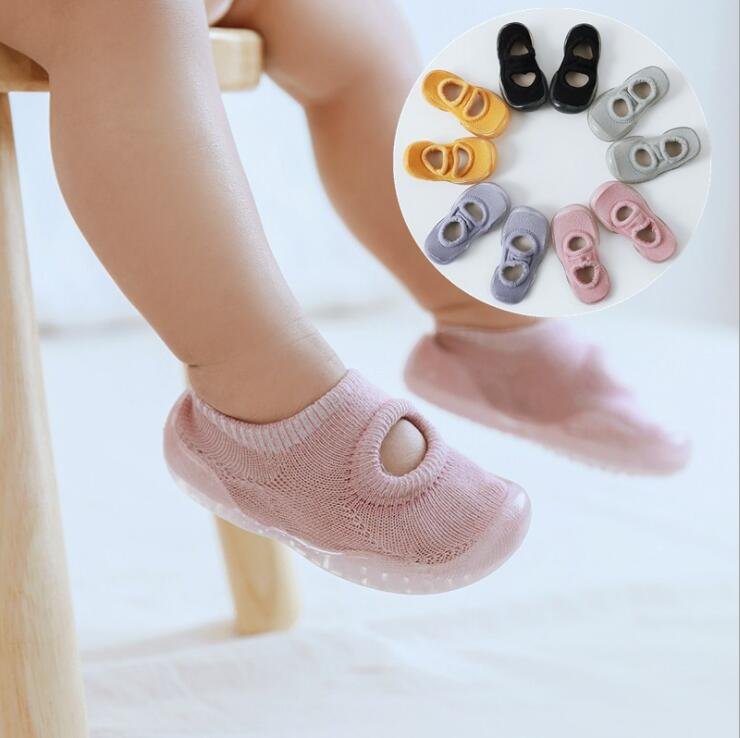 Summer Baby Toddler Shoes Baby  Shoes Non-slip  Shoes Sock Floor Shoes Foot Socks Pure Color Tz05